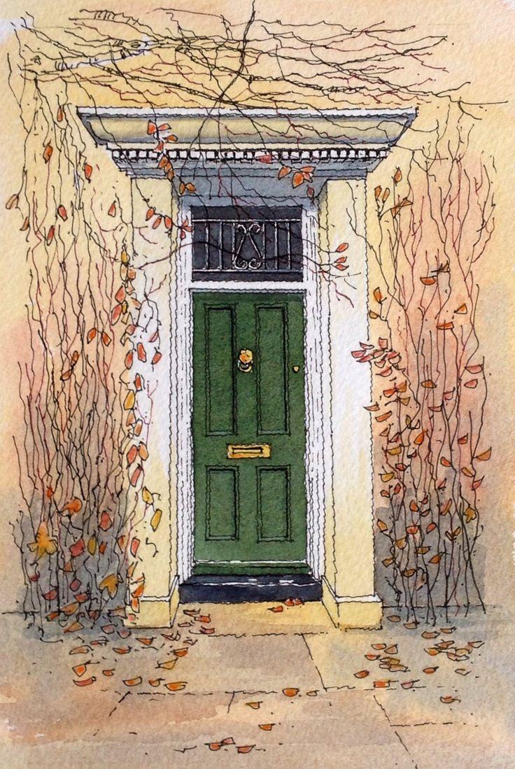 Autumn Door John Edwards Sketching Ink Amp Watercolour