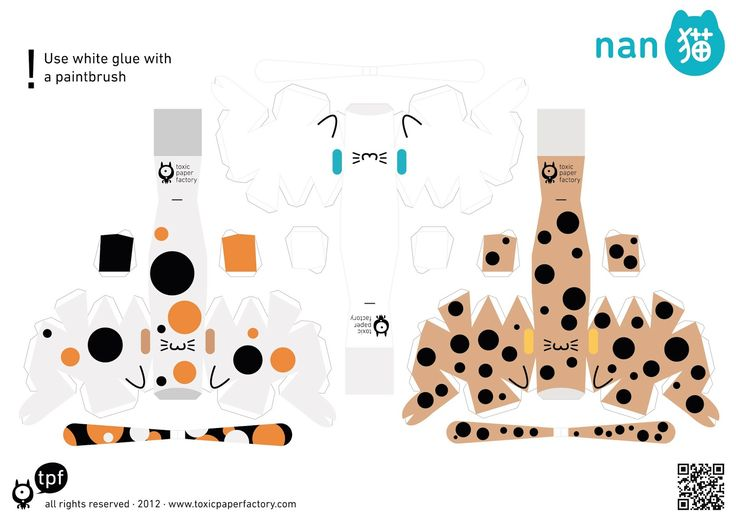 Today I miss too much my cat... so I want to share with you these Nanoneko  by Toxic Paper Factory .  Easy to make and really cute to have t...