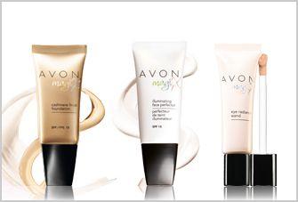 AVON Magix CASHMERE FINISH Make-up-Foundation, Farblose Make-up-Basis, Aufhellstift für die Augenpartie.