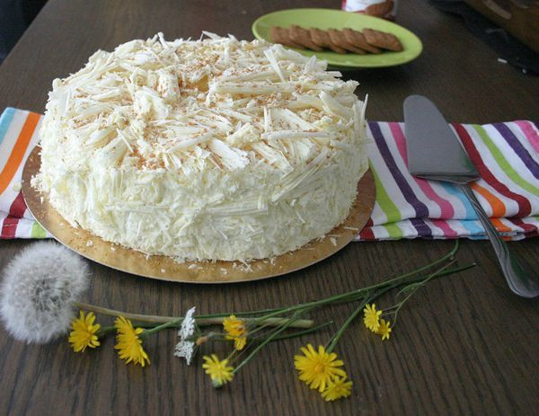 Gâteau merveilleux chocolat blanc speculoos