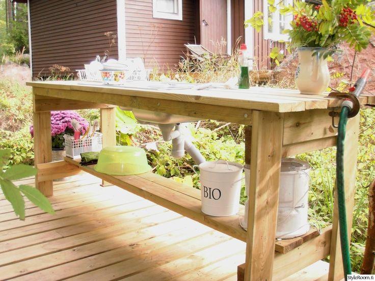 Kesäinen keittiö - helppo toteuttaa! #kesäkeittiö #mökki #kesä #netrautalikes #puutarha