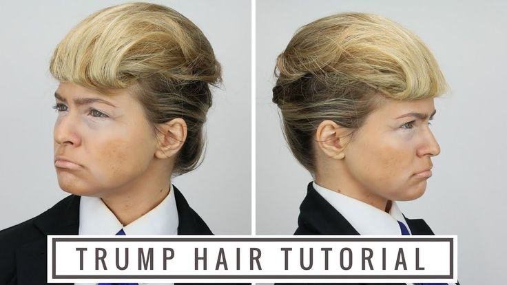 Donald Trump Hair Tutorial This is a quick tutorial on trumping, or how to do Donald Trump's hairstyle on long hair. It's perfect for your Halloween costume! I didn't want t... https://www.youtube.com/watch?v=PyxNafOuIeA