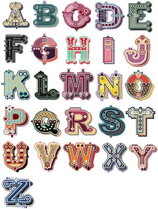 Interesante #tipografía ilustrada, by Jonny Wan