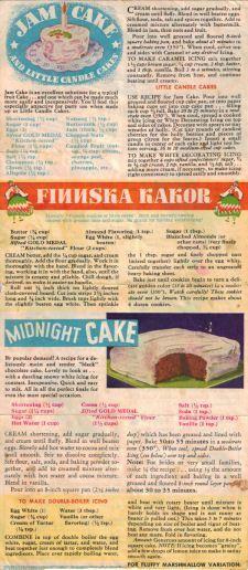 Various Cake Recipes