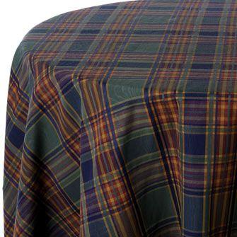 Churchill Plaid Print Table Linen Rentals
