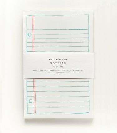 Rifle Paper Co. Lined Paper Notepad, $8. Got this in my latest PopSugar Must Haves box -- really cute and would make a great stocking stuffer.