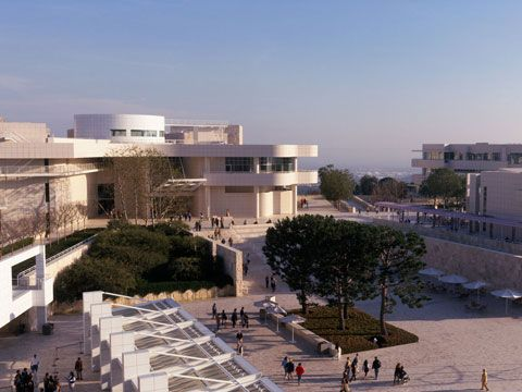 The Getty Center; 1200 Getty Center Dr., LA (GPS use 1200 N. Sepulveda Blvd) (Free Admission - Parking $15 - Closed Mondays)  * See also The Getty Villa - Pay once - park twice)