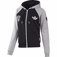 NEU adidas Pullover Damen NBA Basketball Nets Sport-Jacke Sweatshirt Gr. S