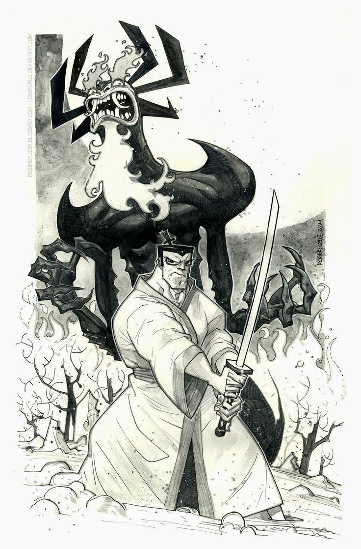 Samurai Jack & Aku Inks