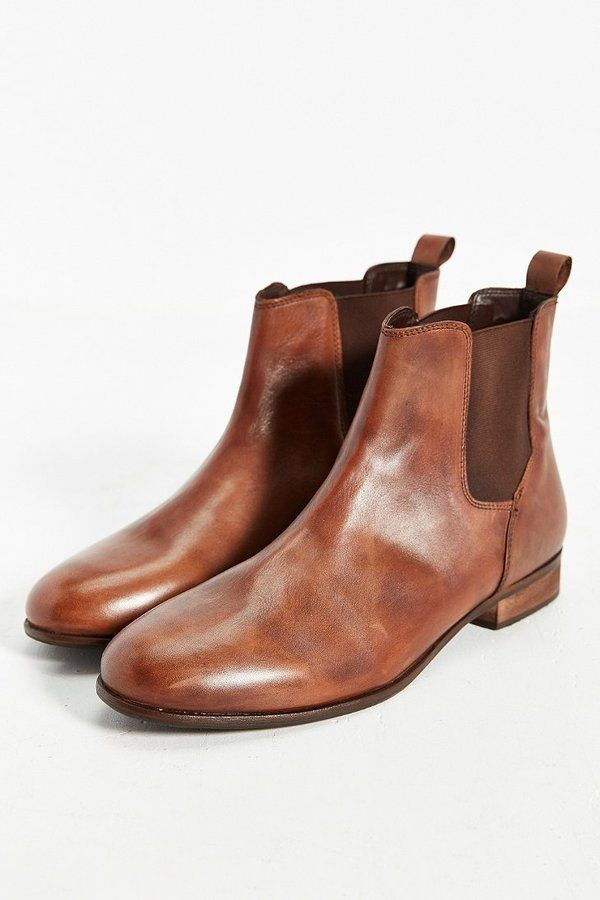 $89, Urban Outfitters Hawkings Mcgill Leather Chelsea Boot. Sold by Urban Outfitters. Click for more info: https://lookastic.com/men/shop_items/342847/redirect