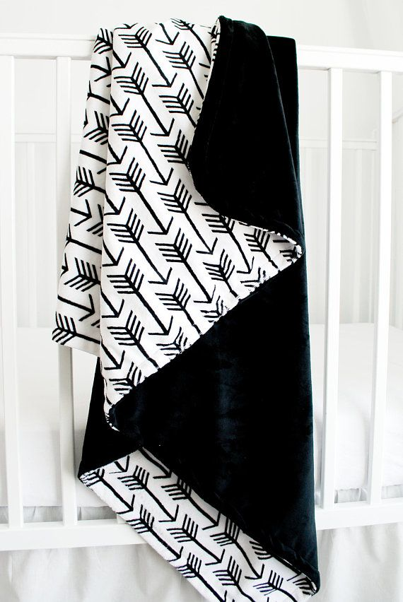 Minky Blanket Done In Black And White This Is One Of The Softest Products You Will Ever Purchase For Your Baby Or Toddler Size 45 Inches By