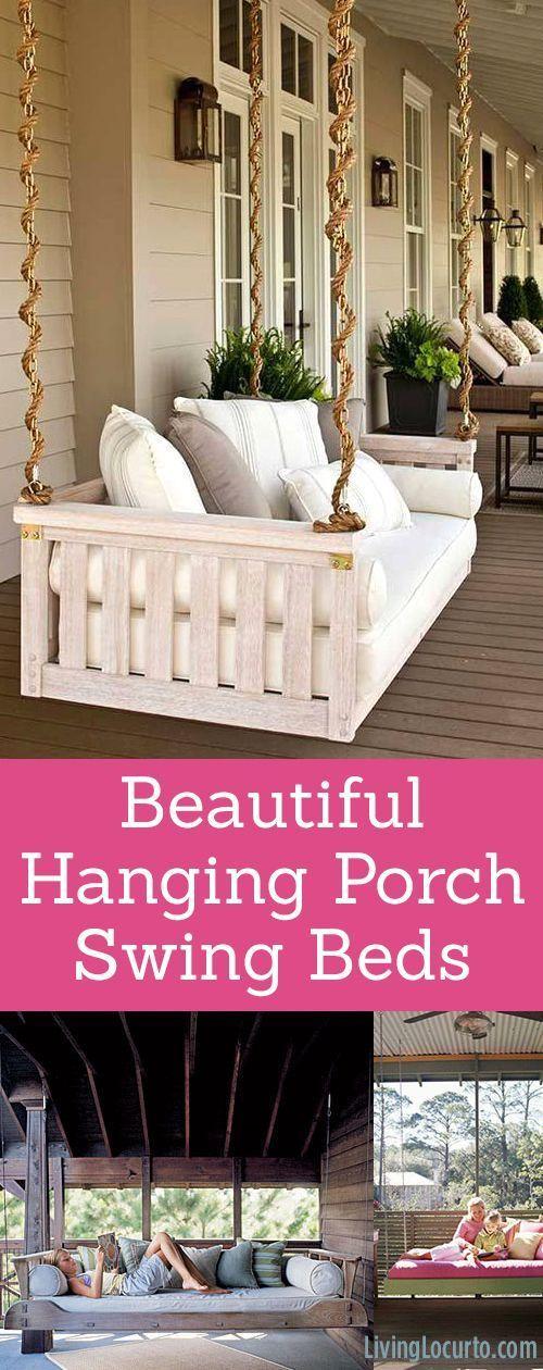 Beautiful Hanging Porch Beds