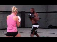 Holly Holm and Jon Jones Training Together | MMA WMMA kick boxing muai thai