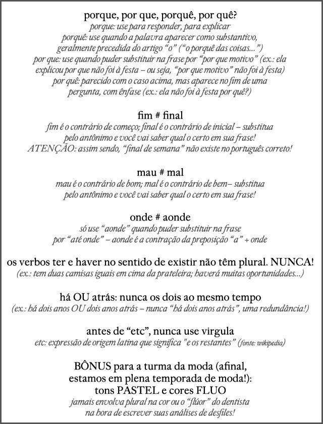 Regrinhas de português
