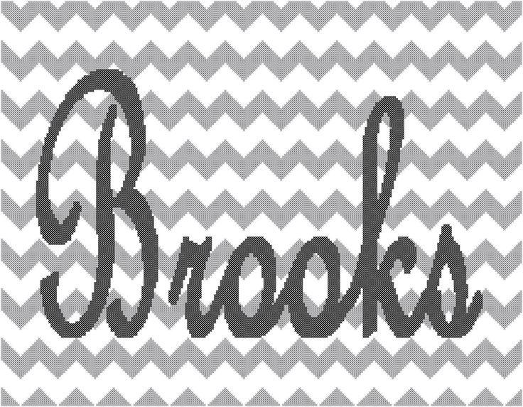 Modern Cross Stitch Name Pattern/Modern Name Cross Stitch Pattern/Modern Cross Stitch Pattern/Counted Cross Stitch/Chevron Cross Stitch/PDF by oneofakindbabydesign on Etsy