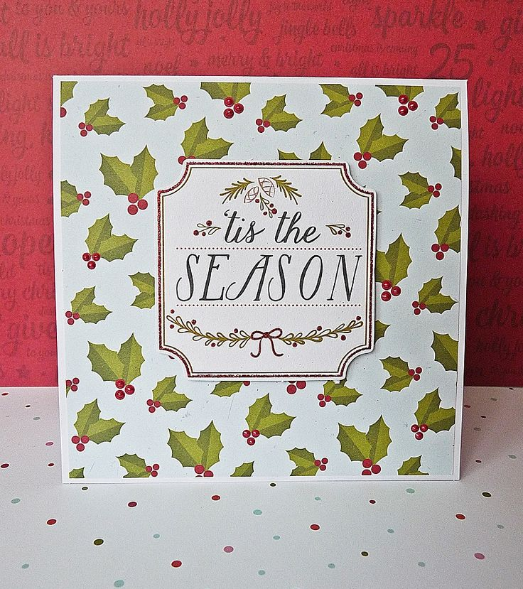 tis the season card || shimelle christmas magic & pink paislee merry and bright