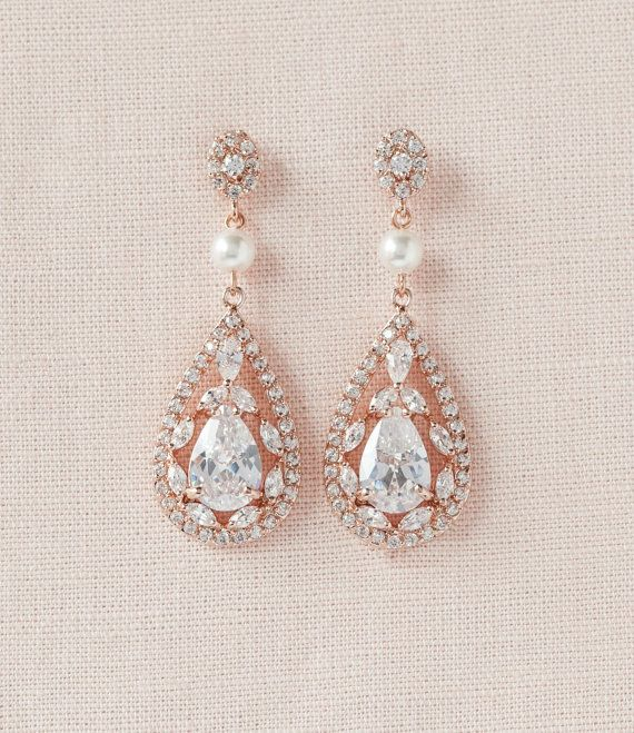 Pendientes novios pendientes de boda cristal por CrystalAvenues