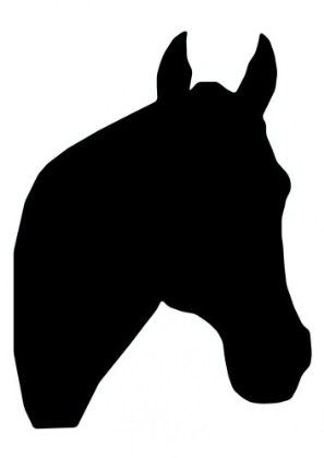 "Amazon.com - Horse Head Silhouette - 64-24"" Removable Wall Graphic"