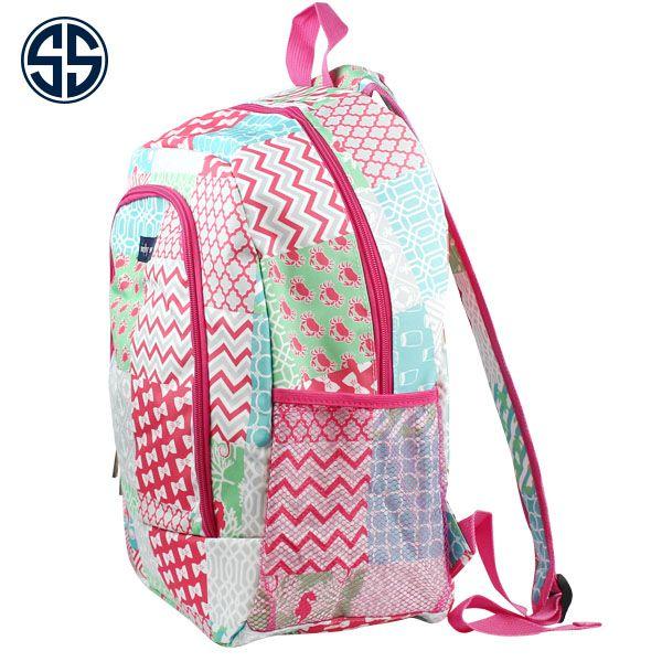 "UM403-PINK Backpack  Material:+Canvas  Size:+13+""L+X+5+""D+X+16+""H *Zipper+Opening *Front+Side+Zipper+Pocket+(Monogram+Ready) *Mesh+Pockets+on+Each+Side *Padded+Adjustable+Shoulder+Straps *Padded+Back+Support ..."