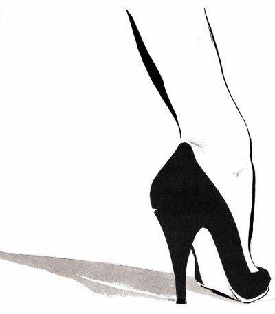Shoe Illustration :: René Gruau