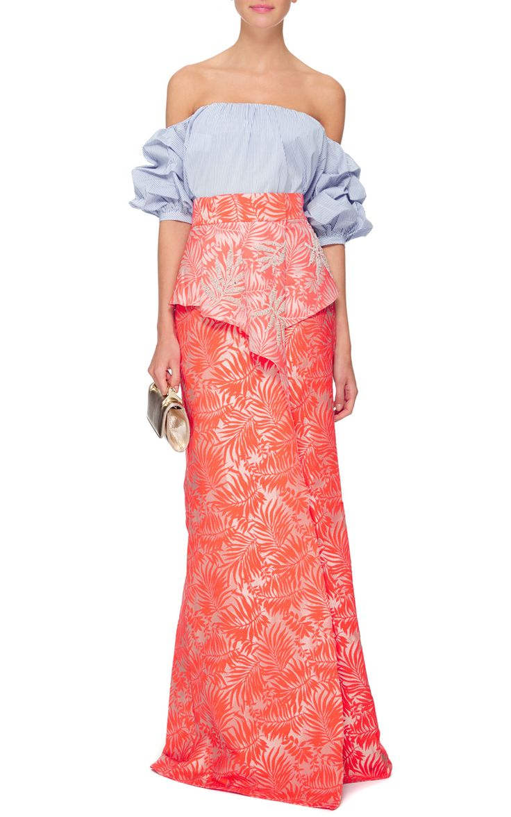 Socotra Embellished Pareo Wraparound Skirt by Johanna Ortiz Now Available on Moda Operandi