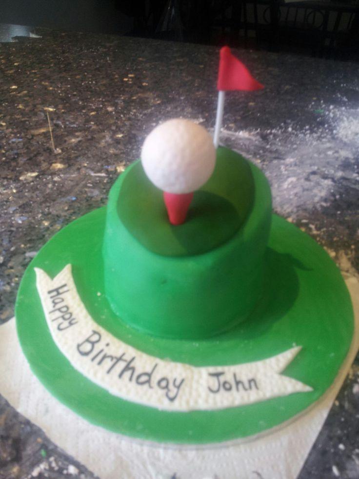 Mr A's golf birthday cake