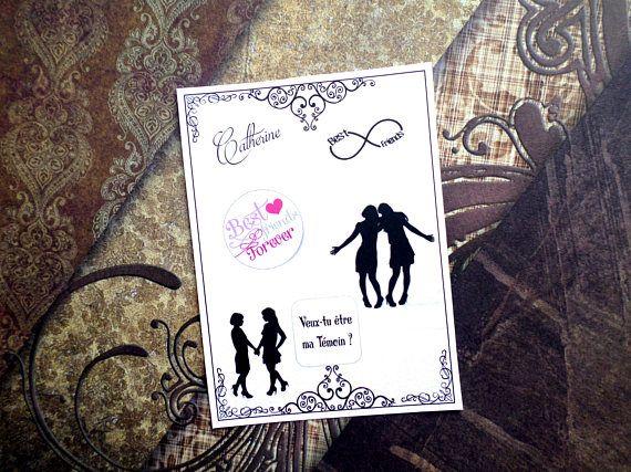 1 CARTE à gratter personnalisée mariage témoin homme femme
