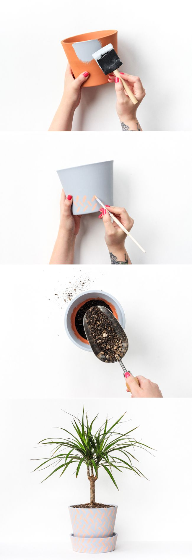 DIY Easy Planter Makeover (click through for full tutorial!)