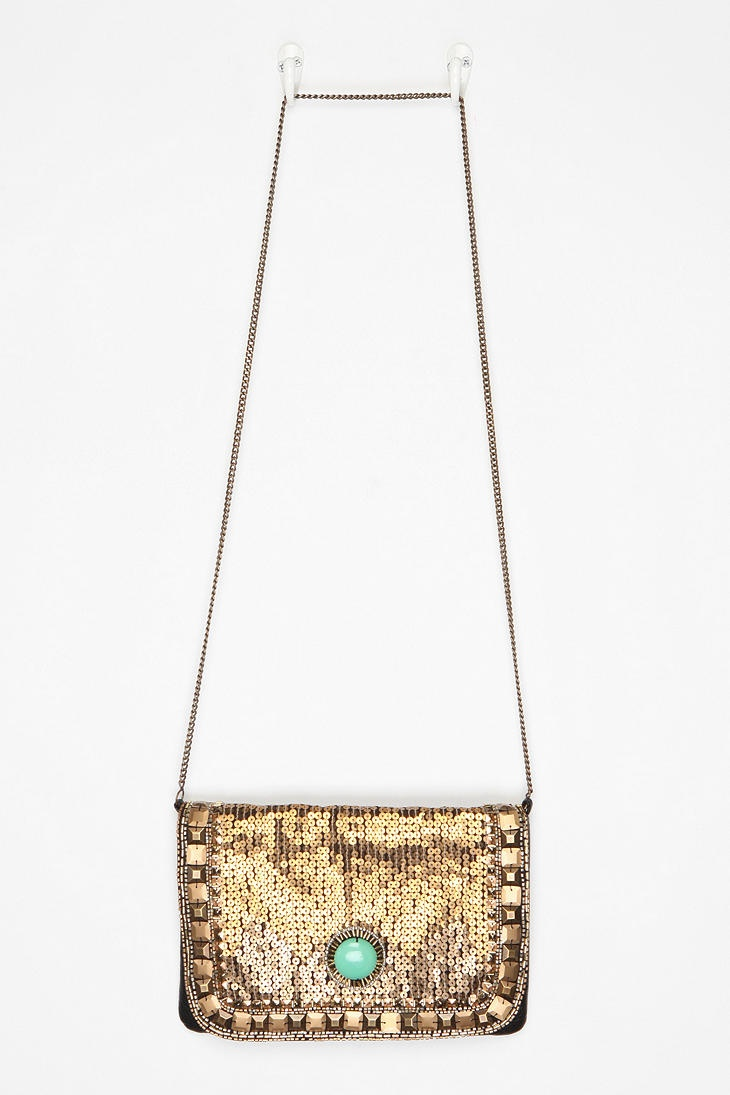 kimchi blue art deco jeweled clutch- urban outfitters; i have this, love it!