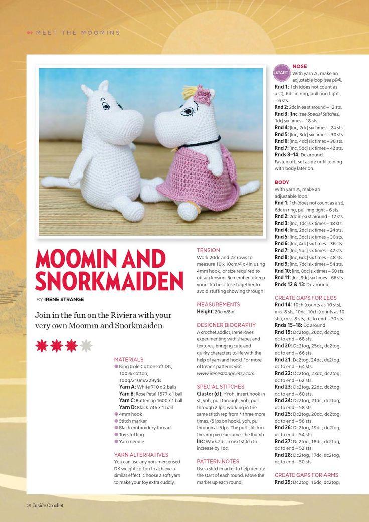 Mejores 15 imágenes de moomins amigurumi en Pinterest | Artesanías ...