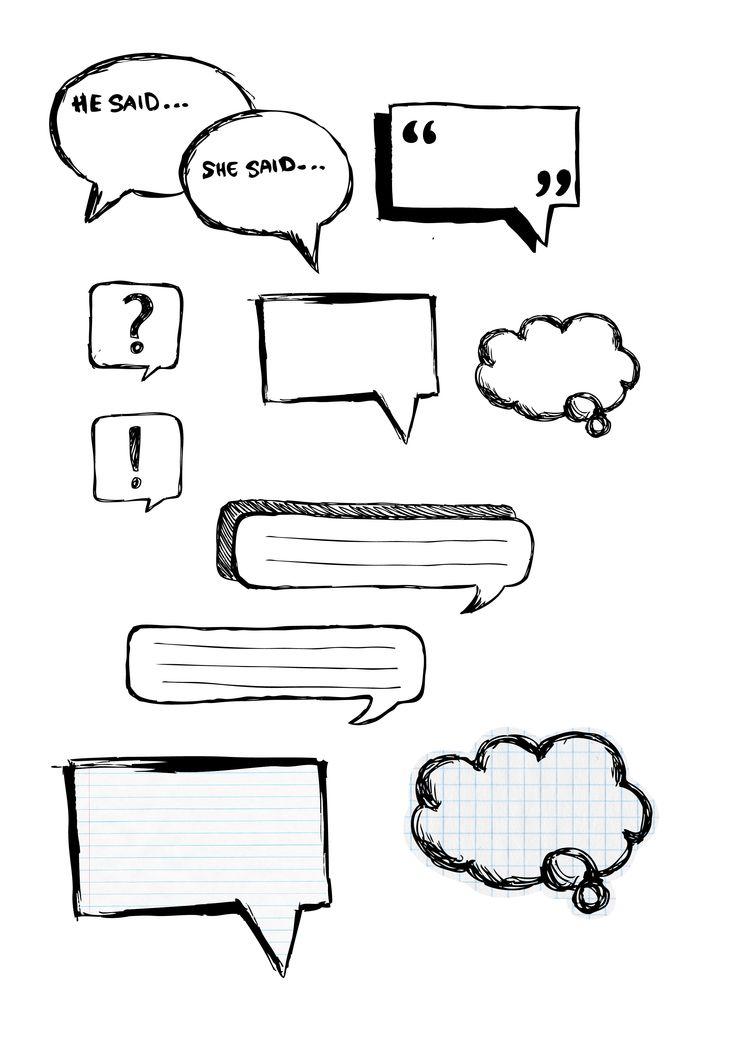 69 best Speech Bubbles / Quotation Marks / Communication