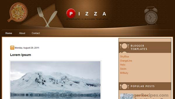Pizza Blogger Templates