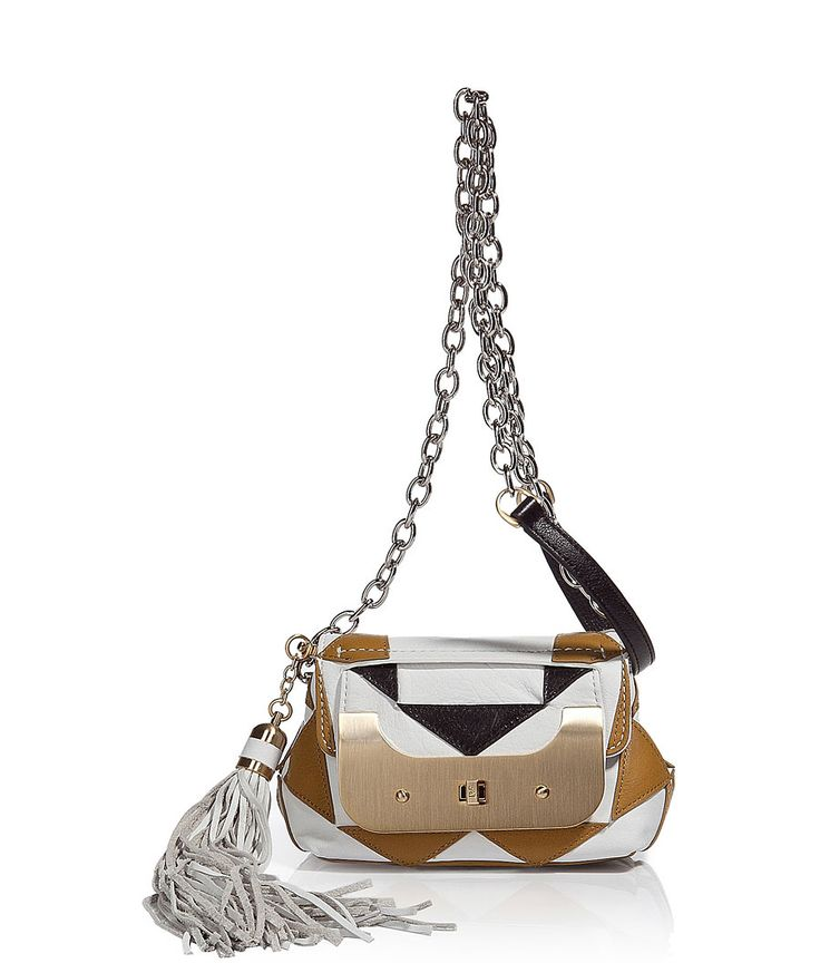 White/Gold Purse Bag Harper