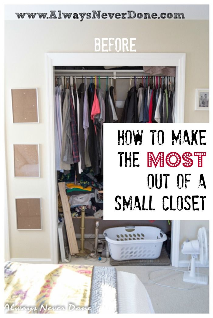 Oh man this is genius said a reader when she saw this for How to organize your small bedroom closet