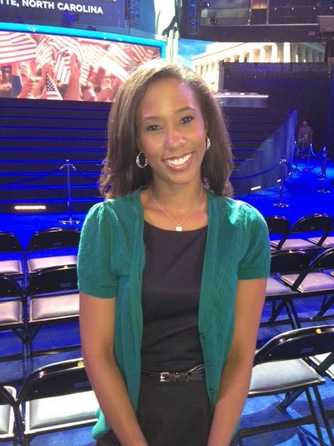 Anjanette Flowers  Media was invited to Community Open House event and podium unveiling for DNC 2012