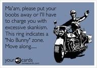 Move along badge bunny.