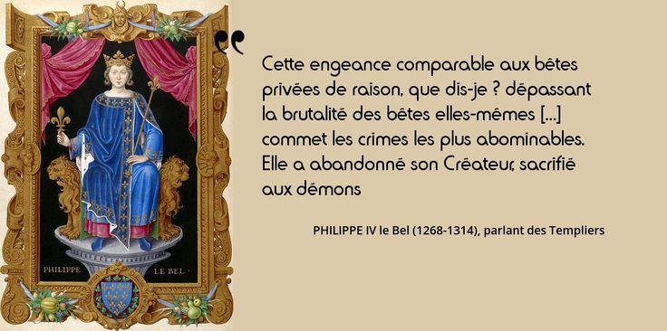 13 octobre 1307 : le roi Philippe IV le Bel fait arrêter les #Templiers