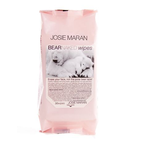 Josie Maran Cosmetics Bear Naked Wipes: Wipe off makeup and dirt nature's way, with a blend of natural and healthy ingredients including aloe vera, cucumber, and vitamin E.
