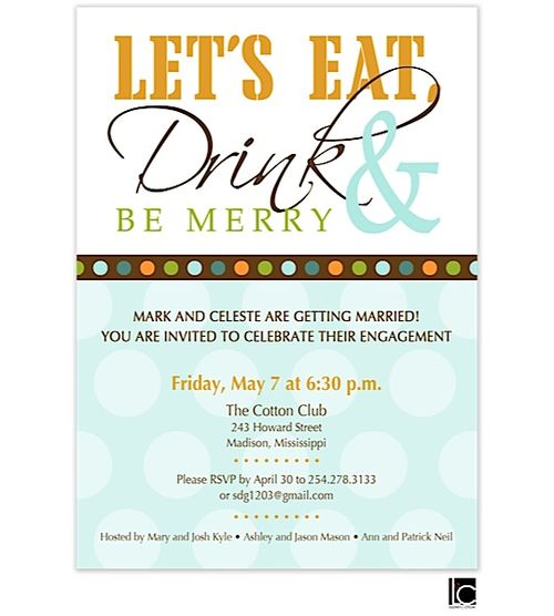 245 best engagement party invitations images on Pinterest - engagement party invites templates