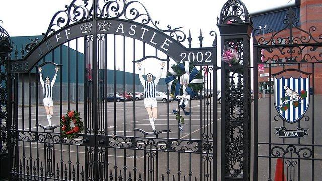 Nice photo of the Jeff Astle gates