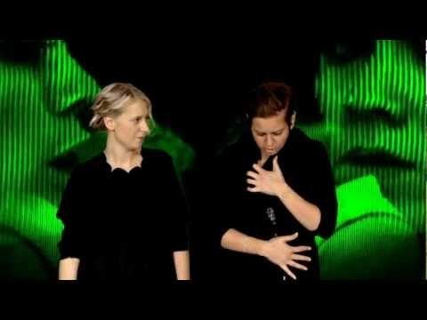 Swedish sign language cover on (Tiësto feat. Tegan & Sara - Feel It In My Bones) - YouTube. Tags  :  Sign  Language  Corner ,  Swedish  Sign  Language ,  learning  signs ,  music for the deaf, interpretation.