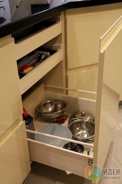 Системы хранения на кухне, хранение посуды, хранение столовых приборов