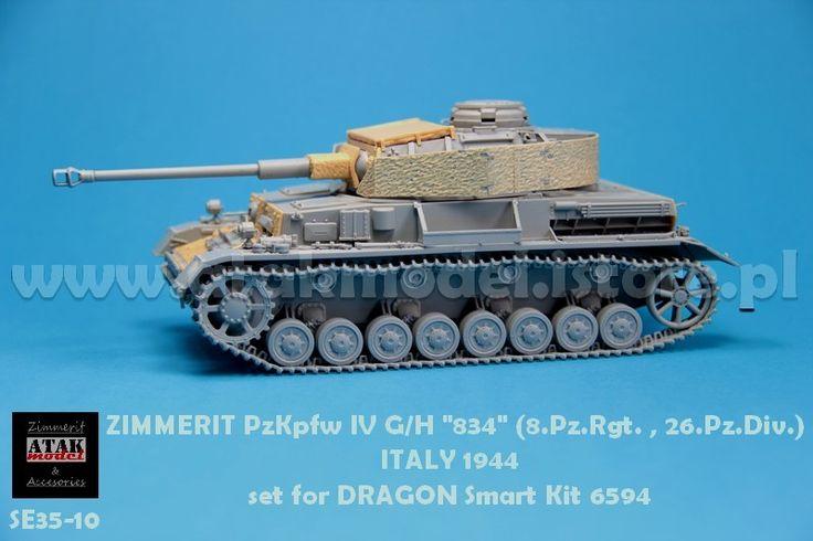 """SE35-10 ZIMMERIT PzKpfw IV G/H """"834"""" (8.Pz.Rgt. , 26.Pz.Div.)"""