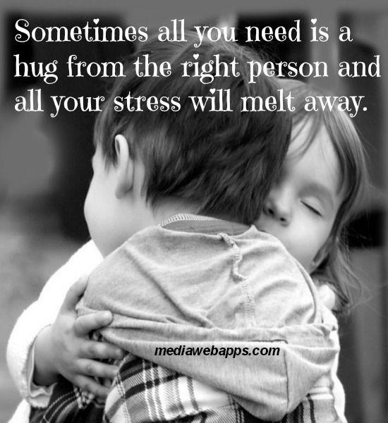 必要なこと、それは、時として、この人だという人に抱きしめてもらうこと。それさえあれば、不安は溶けてなくなっちゃうよ。