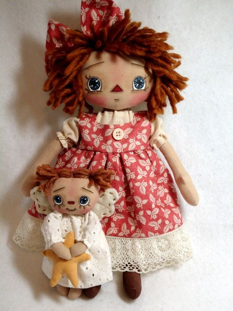 *RAGGEDY ANN ~ Carli and Her Guardian Angel by Allisbright on Etsy, $48.00