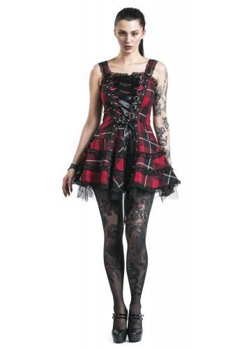 "Abito ""Harley Tartan Dress"" del brand #HellBunny."