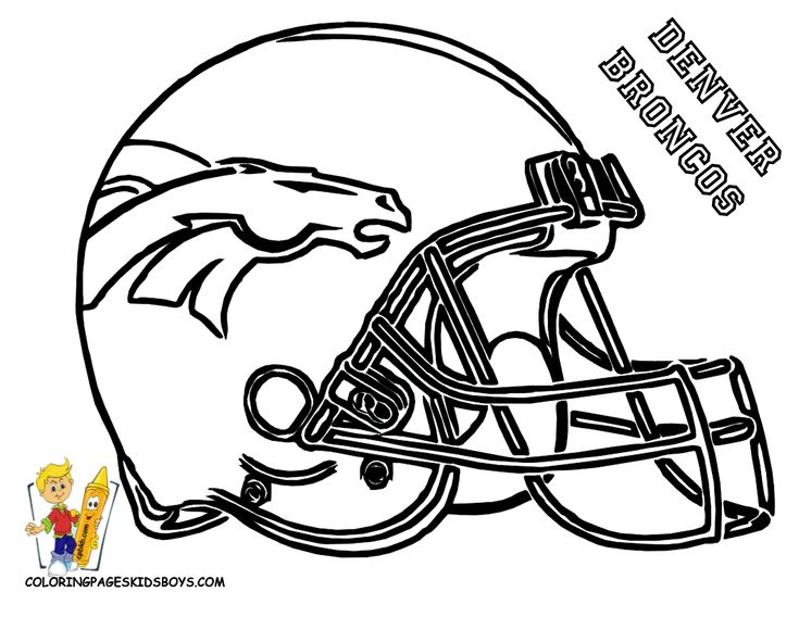 broncos coloring page should have the nieces color these then frame them for carlos