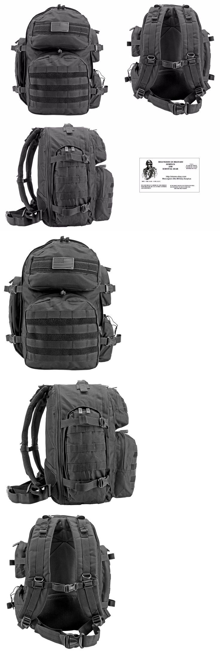 Other Emergency Gear 181415: Molle Tactical Elite Backpack B.O.B. Tactical Military Survival - Black -> BUY IT NOW ONLY: $45.99 on eBay!