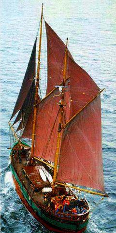 Sailing Ship Mandalay - learn to sail traditional cargo ship