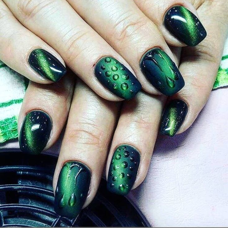 Top 55 Manicure ideas based green color 2019